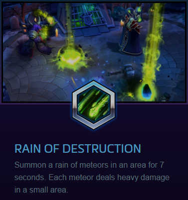 Guldan Rain of destruction