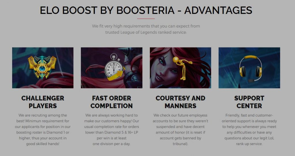 Boosteria advantages